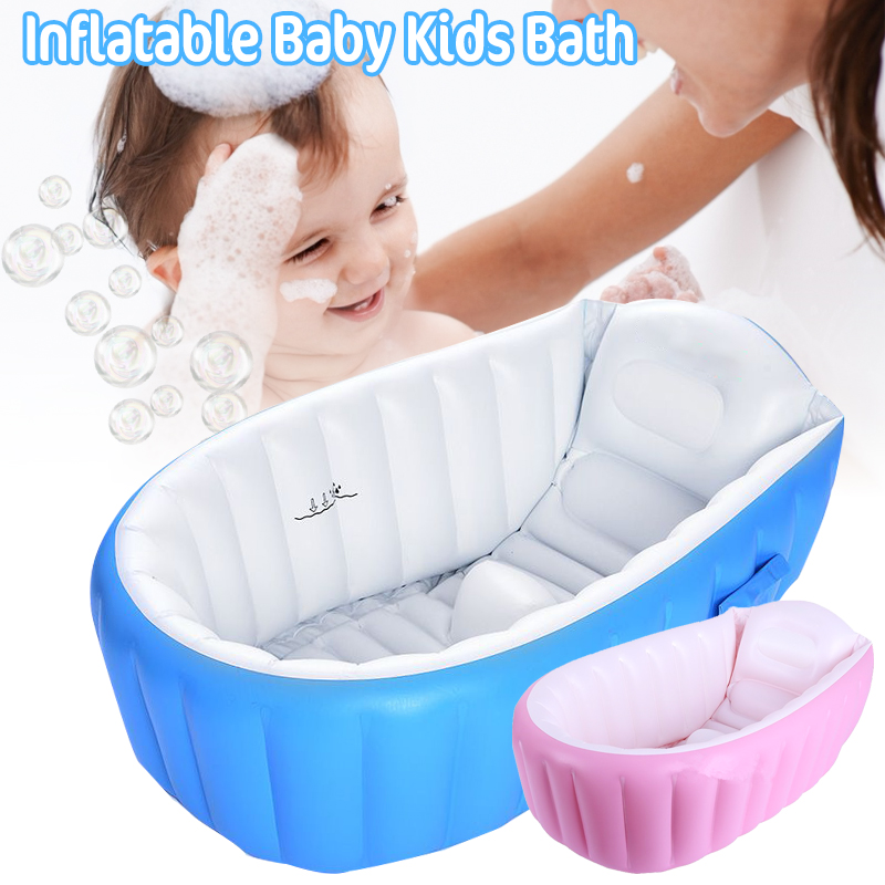 Inflatable Baby Tubs Children's Swimming Pool Summer Baby Tub Folding Travel Bath Wash Basin Tub Bath Shower Outdoor Inflatable