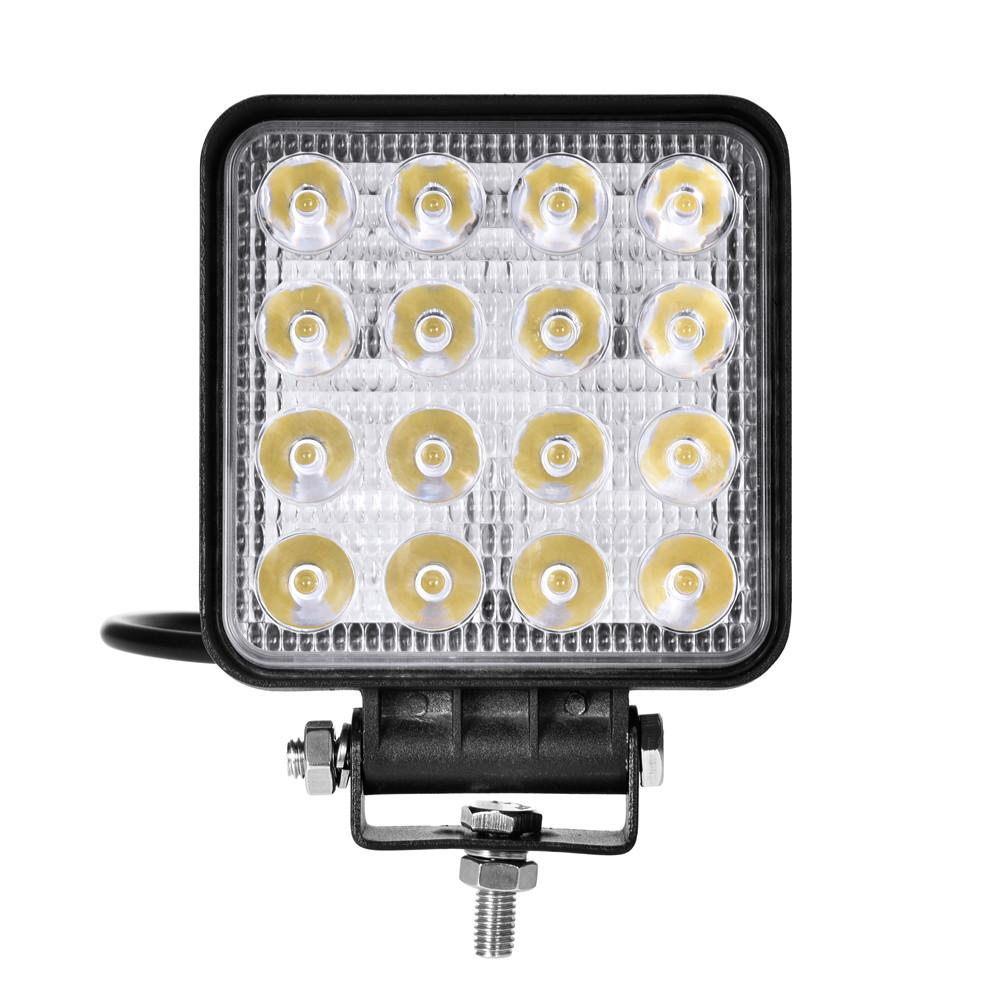 10 pièces 6Inch LED Offroad travail barre lumineuse Spot d'inondation Combo faisceau 27 W/48 W 12V pour Jeep ATV UAZ SUV 4WD 4x4 camion tracteur lumière LED