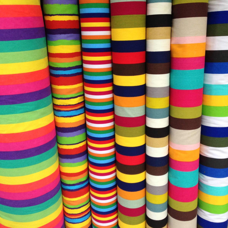 Stripe Cotton Canvas Fabric Upholstery Sofa Cover Curtain Table Cushion Sofa New