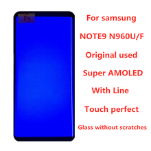 With Line  Original  AMOLED  Display For SAMSUNG Galaxy NOTE9 LCD N960 N960F Display Touch Screen Replacement Parts  screen