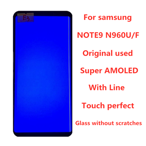 Image 1 - With Line  Original  AMOLED  Display For SAMSUNG Galaxy NOTE9 LCD N960 N960F Display Touch Screen Replacement Parts  screen