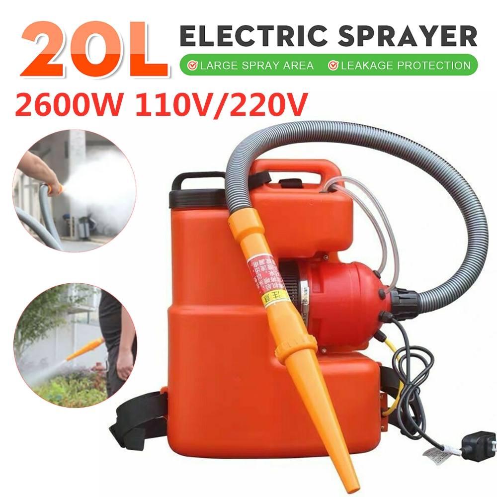 In Stock 20L 2600W 110V 220V Electric Fogger Machine ULV Sprayer Sterilization Disinfection Safety Portable Fogging Nebulizer