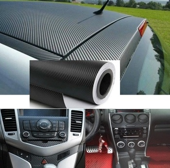 1.27Mx30cm 3D Carbon Fiber Vinyl Car Wrap Sheet Roll Film Car stickers and Decals Motorcycle Car Styling Accessories Automobiles image