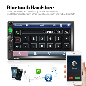 """Image 2 - Podofo voiture accessoires 2 Din 7 """"autoradio MP5 Player 7010b miroir lien écran tactile stéréo bluetooth Support caméra de recul"""