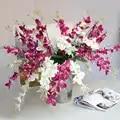 Орхидея, искусственные цветы DIY Бабочка Орхидея ткань Букет из искусственных цветов вечерние свадебные искусственные украшения цветы