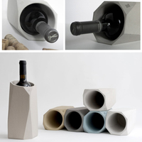 Cement silicone mold wine bottle cover mold Red wine storage bucket silicone mold for concrete household barsupplies vase mold