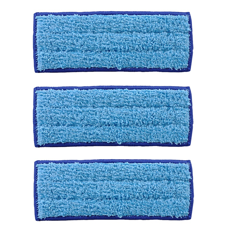 3 Pack Washable Mopping Pads  for IRobot Braava Jet 240 241  Blue Vacuum Cleaner Parts     - title=
