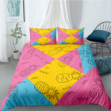 Pineapples Bedding Set For Girls Fresh Beautiful Duvet Cover Geometric King Queen Twin Full Single Double Unique Design Bed Set цена 2017