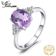 JewelryPalace Classic Oval 2.8ct Created Alexandrite Sapphire Anniversary Rings For Women Solid 925 Sterling Silver Fine Jewelry jewelrypalace elegant 2 43ct created alexandrite sapphire cubic zirconia halo adjustable bracelets for women 925 sterling silver