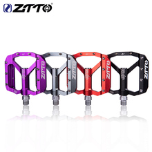 ZTTO MTB Bearing Aluminum Alloy Flat Pedal Bicycle Good Grip Lightweight 9/16 Pedals
