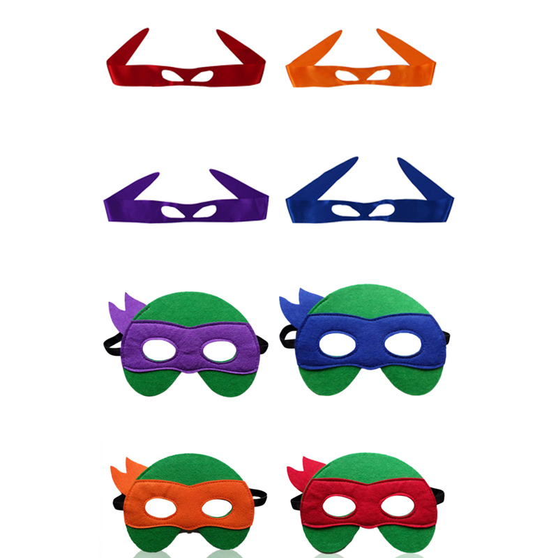 Ninja Turtles Mask Captain America The Avengers Kids Birthday Christmas Gift For Children Cartoon Hats Cosplay Party Game Toys
