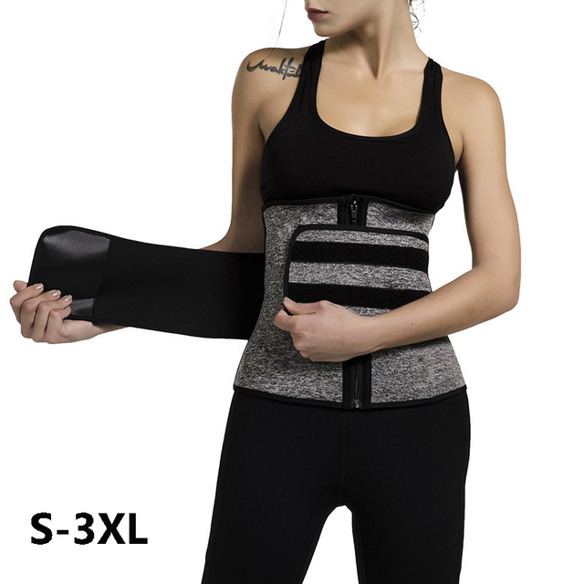 Sauna Waist Trainer Corset Sweat Belt for Women Weight Loss Compression Trimmer Body Shaper Workout Belts Fitness Shapewear