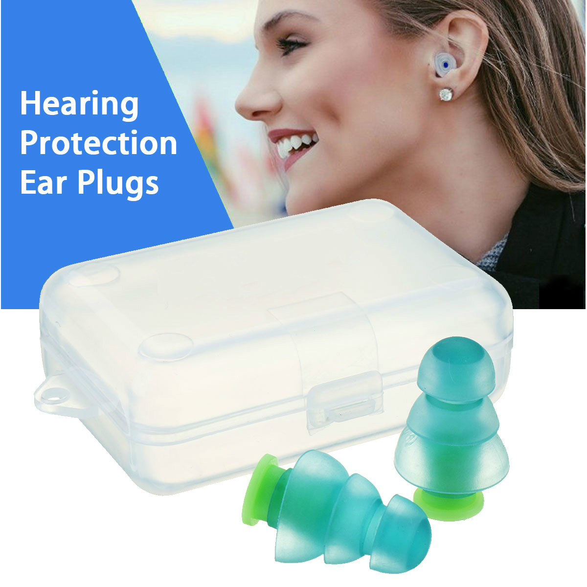 Hearing Protection Earplugs For Concerts Musician Motorcycles Reusable Silicone Ear Plugs Safurance 1 Pair Noise Cancelling