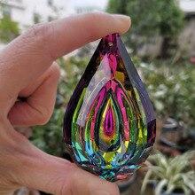 Bunte Kristall Suncatcher Loquat Anhänger Kronleuchter Prism Lampe Teile Hängen Ornamente Hause Hochzeit Party Decor Figurine