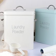 Beautiful powder coating metal zinc laundry boxes storage with