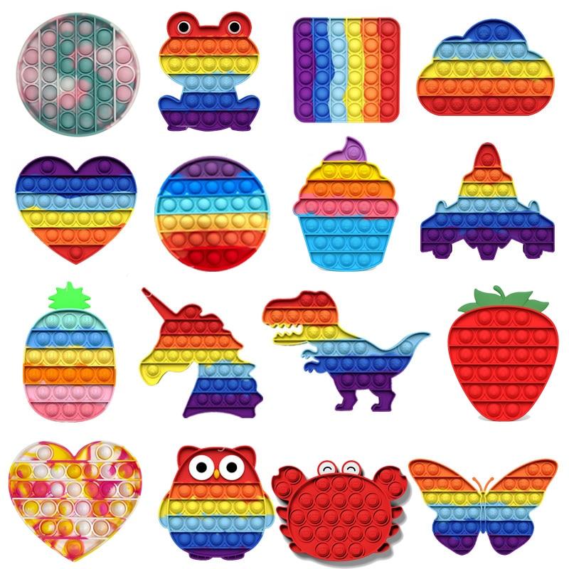 80 видов антистрессовых игрушек, детские игрушки, пуш-ап, пузырьковый попит, Простой Взрослый динозавр, сенсорный аутизм, особая необходимос...