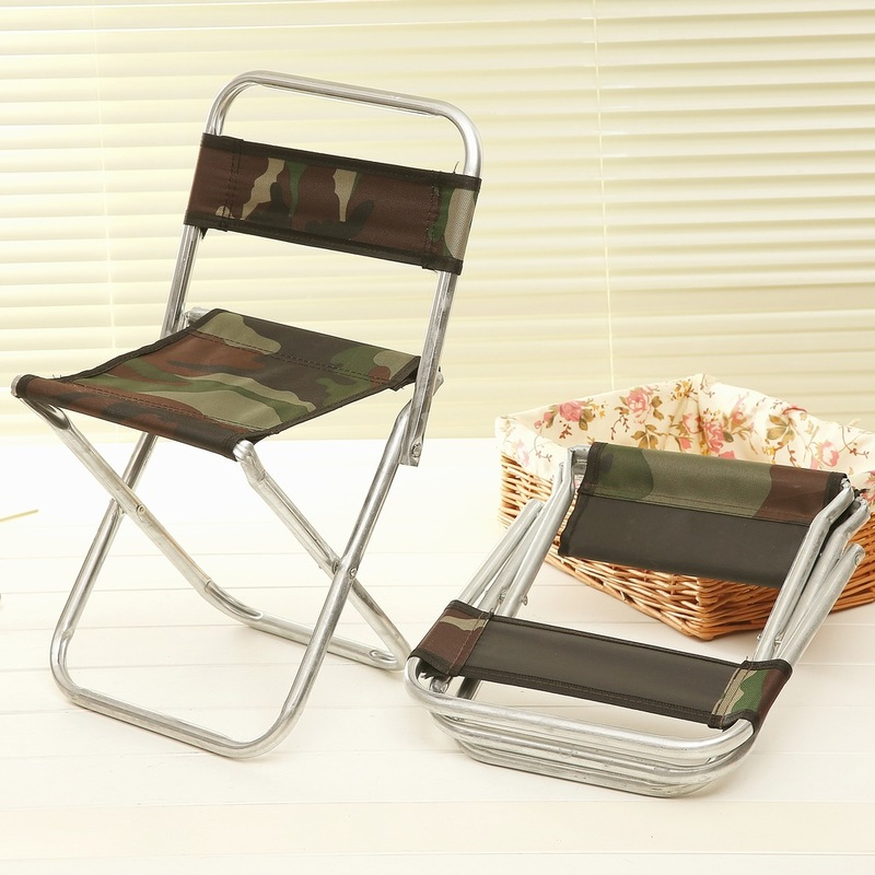 Camouflage Foldable Backrest Chairs Stool Metal Canvas Portable Ultralight Fishing Chair Camping Supplies Outdoor Furniture