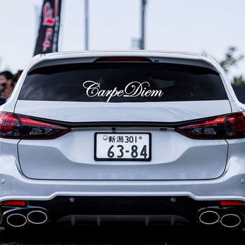 цена на New Design Carpe Diem Car Stickers Decals Text Sticker For Car Side Mirror Rearview Decoration Your Own Personalized Car