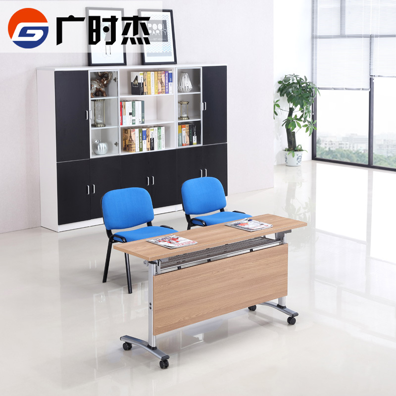 Supply European Like Fashion Turning Plate Groom Desk Folding Office Long Table Simple Combination Conference Table Study Table