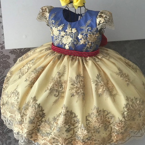 Image 3 - Good Quality Girl Evening Princess Dress Lace Embroidery Kids Girls Dresses For Birthday Perform Wedding Party Baby Girl Clothes