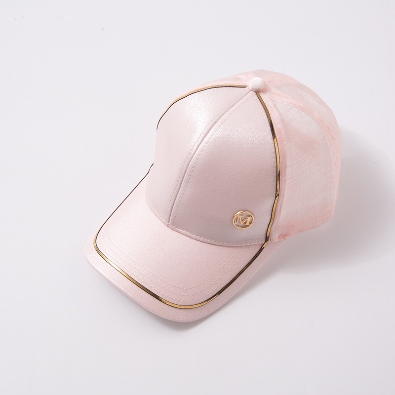 New Women Baseball Cap Female Solid Color Outdoor Adjustable White Pink Black Embroidered Women's Hats Summer Letter MD Sunhat09