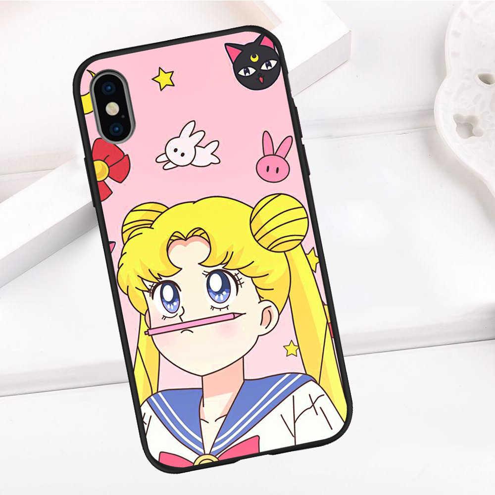 Sailor Moon For iPhone X XR XS Max 5 5S SE 6 6S 7 8 Plus Oneplus 5T Pro 6T phone Case Cover Coque Etui funda capinha capa cute
