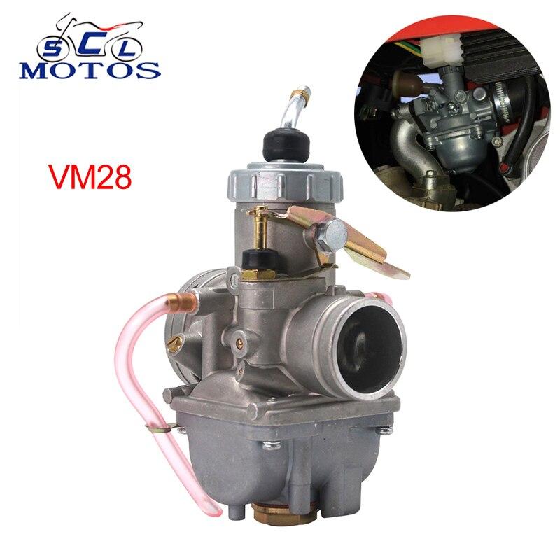 Sclmotos-Mikuni carburateur rond glissière VM série VM28 32mm manuel amortisseur Carb 2 T/4 T moteur pour Yamaha ATV Motocross Enduro