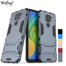 For Cover Xiaomi Redmi Note 9 Case Hybrid Stand Silicone Armor Phone Case For Redmi Note 9 9S 10X 4G Cover For Redmi Note 9 Pro недорого