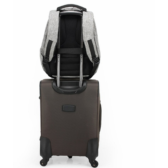 1 pcs Backpack Durable Energy-saving Exquisite Delicate Useful Solar Backpack for Backpacker Student Knapsacking 5