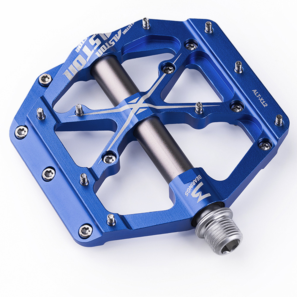 Ansjs 3 Bearings Mountain Bike Pedals Platform Bicycle Flat Alloy Pedals 9/16