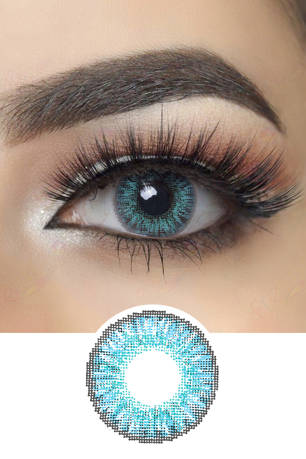 3 Tone Series Brilliant Blue Colored Contacts Colored Contact Lenses