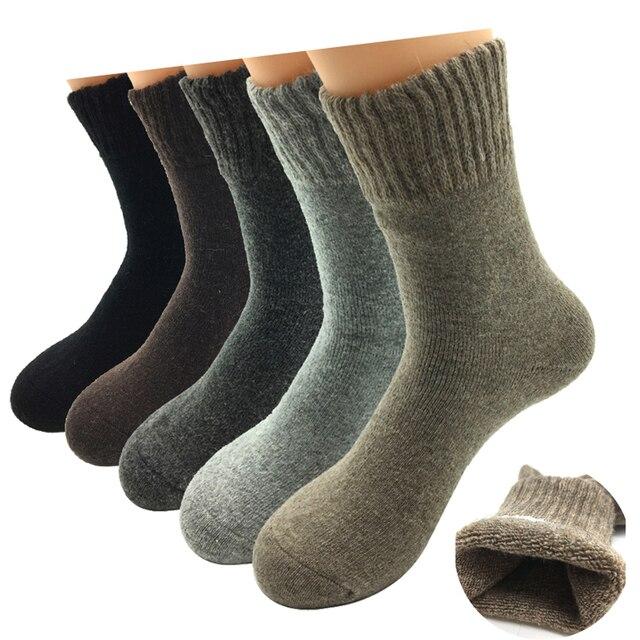 5 пар/партия, мужские шерстяные носки
