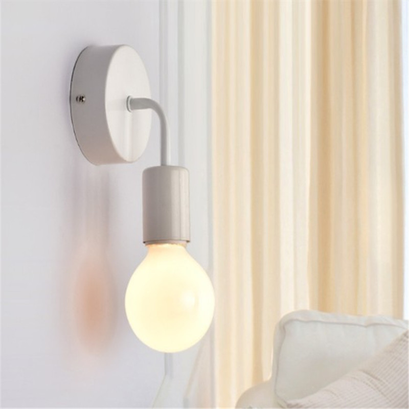 <font><b>Wall</b></font> <font><b>Lamp</b></font> Modern Nordic Wooden Sconce for Home Light Fixture <font><b>Vintage</b></font> Retro <font><b>Wall</b></font> Light Decor Edison <font><b>Lamp</b></font> E27 110V 220V image