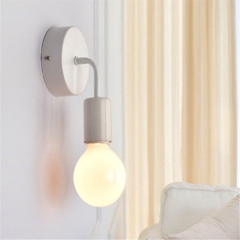 Wall Lamp Modern Nordic Wooden Sconce For Home Light Fixture Vintage Retro Wall Light Decor Edison Lamp E27 110V 220V