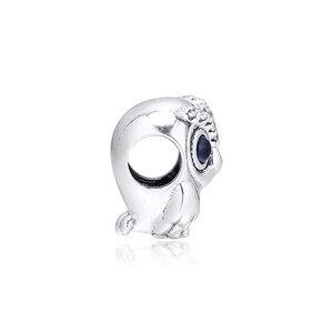 Image 3 - Hibou étincelant gros yeux perles de cristal pour Bracelets à breloques 2019 automne 925 bijoux en argent Sterling perles à breloques pour la fabrication de bijoux