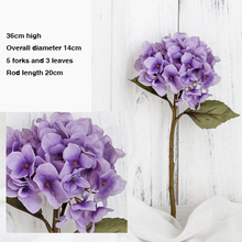 Hydrangea Artificial Flowers Fake Flower Small Bouquet For Wedding Party Home New Year Decoration Silk Flowers artificial flowers small bouquet pink white silk flower wedding garden home decoration fake flower bouquet