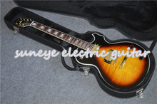 Suneye Vintage Sunburst Electric Guitar Tiger Grain Finish Custom Guitar DIY Guitar Kit Available With Guitar Case free shipping china factory custom new standard les sunburst paul l electric guitar 16 131