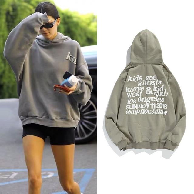 Pullover Fleece Hoodies Kendall Jenner Print Sweatshirt Stranger Things Foaming Printing Hoodies Streetwear Women