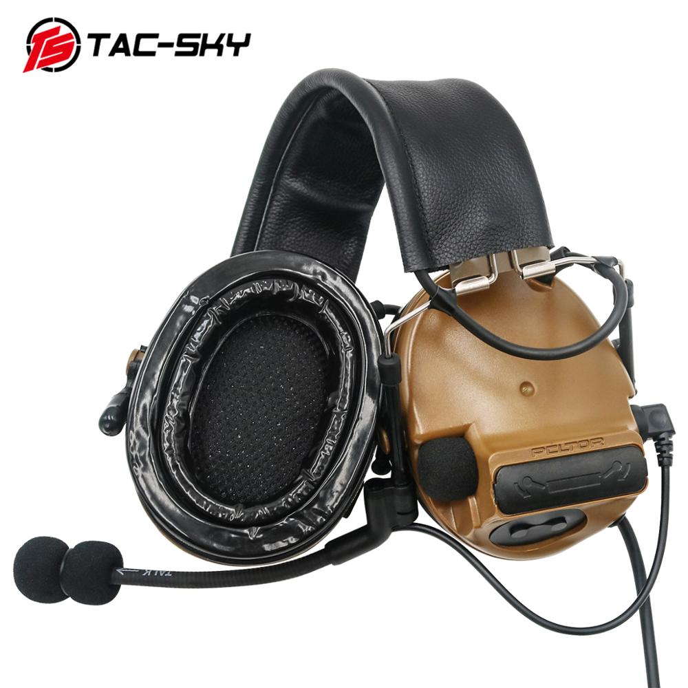TAC-SKY COMTAC III Silicone Earmuffs Edition Hunting Noise Reduction Air Gun Military Shooting Earmuffs Tactical Headphones C3CB
