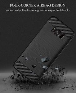 Image 4 - Funda de silicona para teléfono Samsung Galaxy S8 Plus, funda de fibra de carbono suave, parachoques galays8 S 8 S8Plus 8 Plus SM G950F G955F SM G950