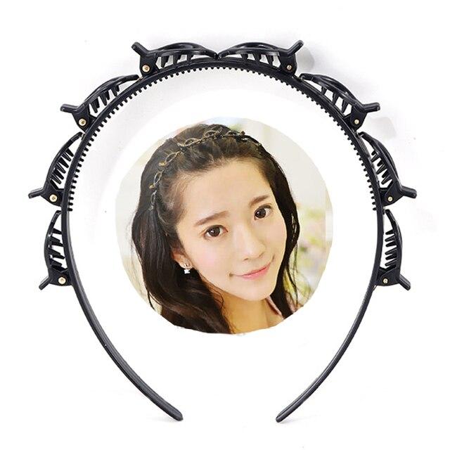 AWAYTR Unisex Alice Hairband Headband Men Women Sports Hair Band Hoop Metal Hoop Double Bangs Hairstyle Hairpin Hair Accessories 2