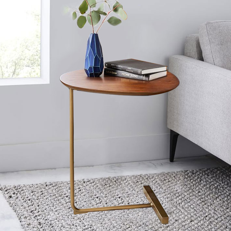 Creative Oval Small Side Table Mobile Coffee Table Wrought Iron Sofa Corner Side Lazy Bedside Reading Table Coffe Table Cl51407 Aliexpress