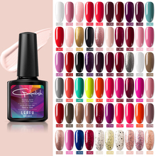 Modelones Salon Nail Art UV Nail Gel Polish French Manicure Kit Gel Nail Lacquer Soak Off Led Nail Gel Paint 10ML Colorful Gel modelones 3pcs lot gel nail polish set kit semi permanent uv purple nail polish nail art soak off led uv nail salon set