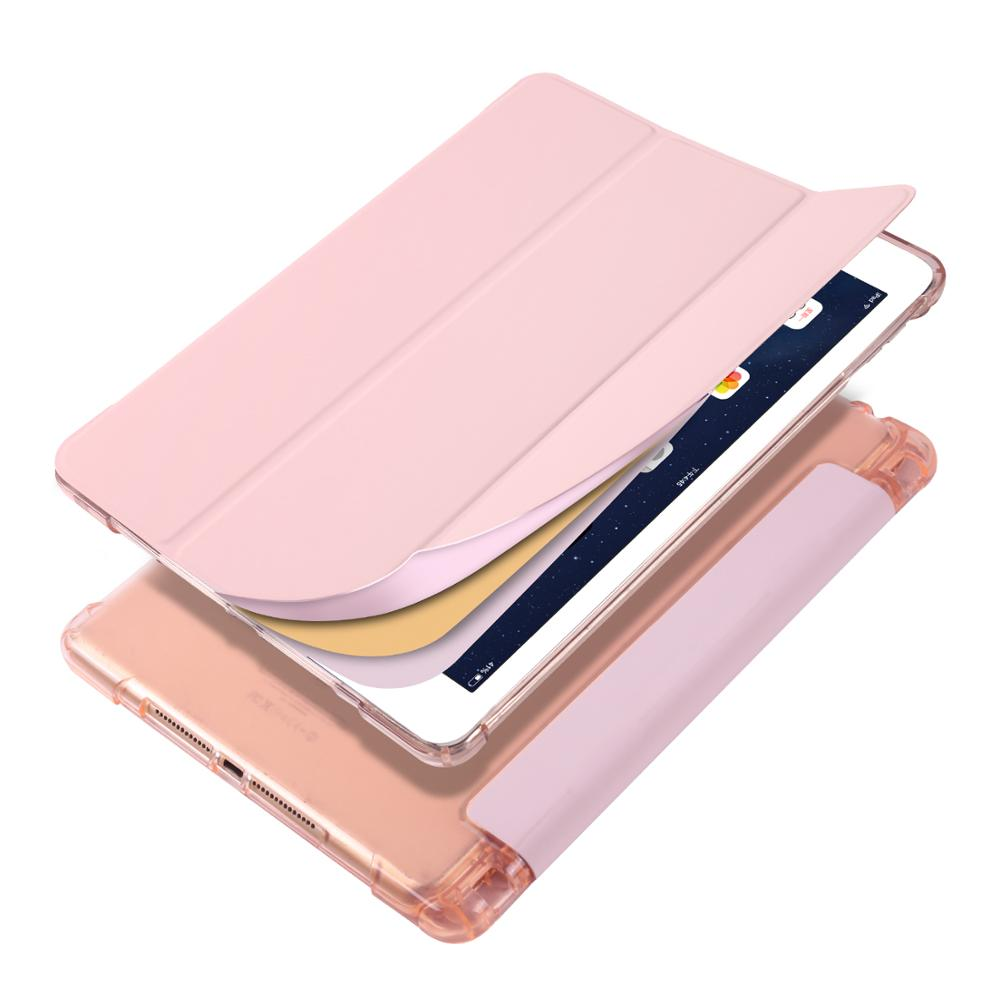 Pink Brown Case for iPad Pro 12 9 2020 A2229 A2069 A2032 A2233 Case Multi Fold PU Leather