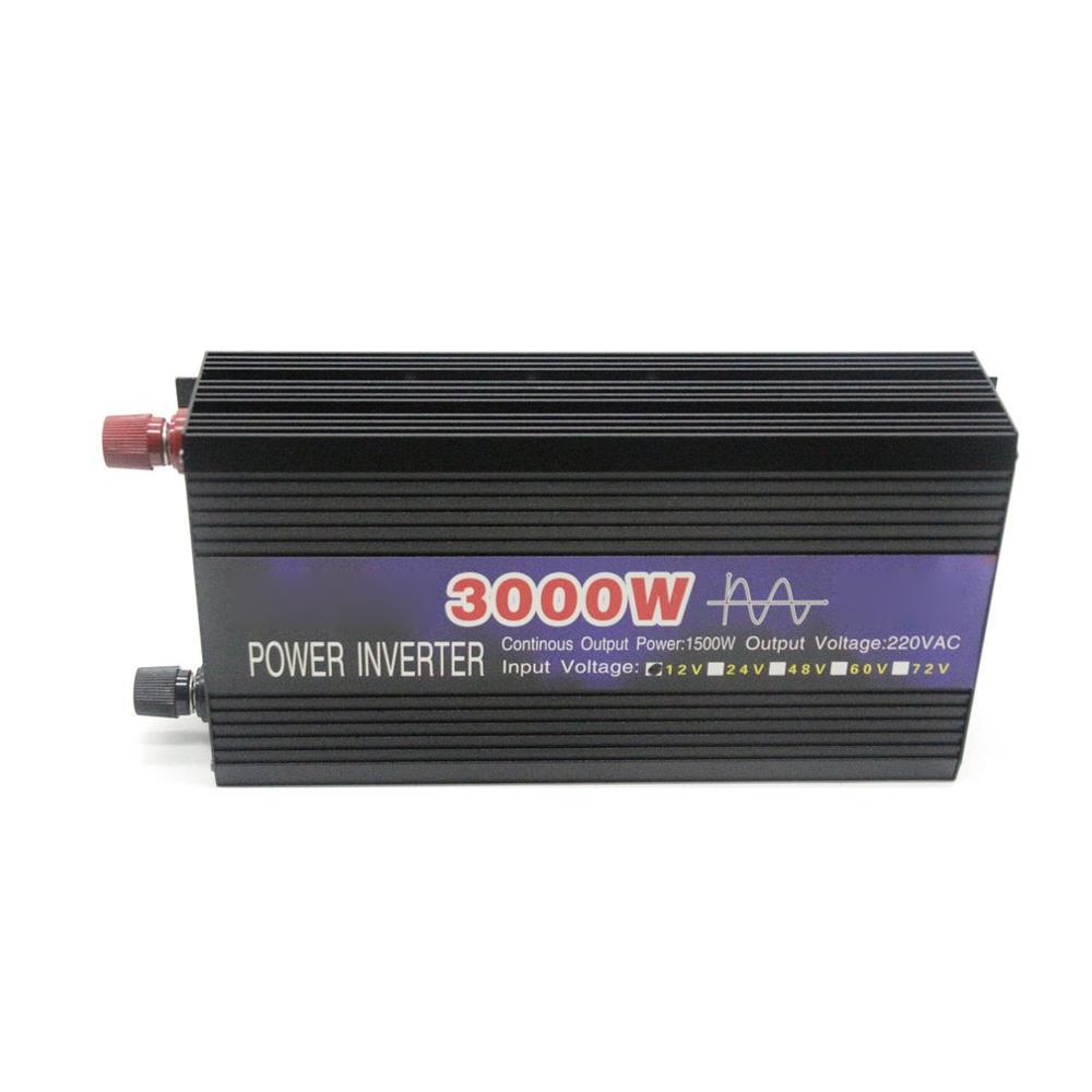 3000 w onda senoidal pura inteligente inversor de corda dupla display digital potência do inversor conversor carro adaptador com ventilador duplo - 6