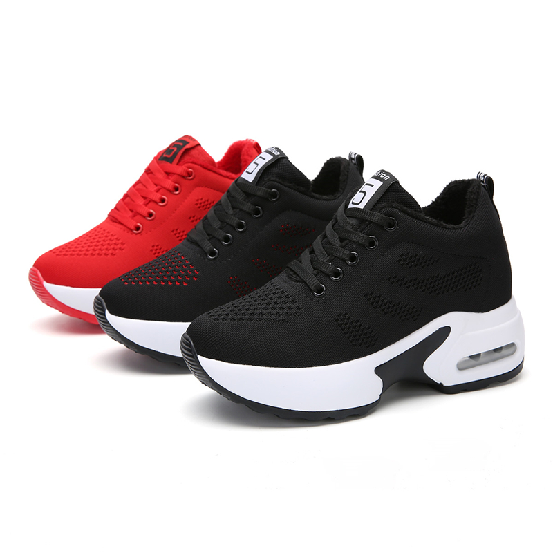 hot Winter Plush Women basketball Shoes Female Warm Comfy Outdoor Jogging Sport Shoes Stable Athletic Soft Trainers basket femme Basketball Shoes     - title=
