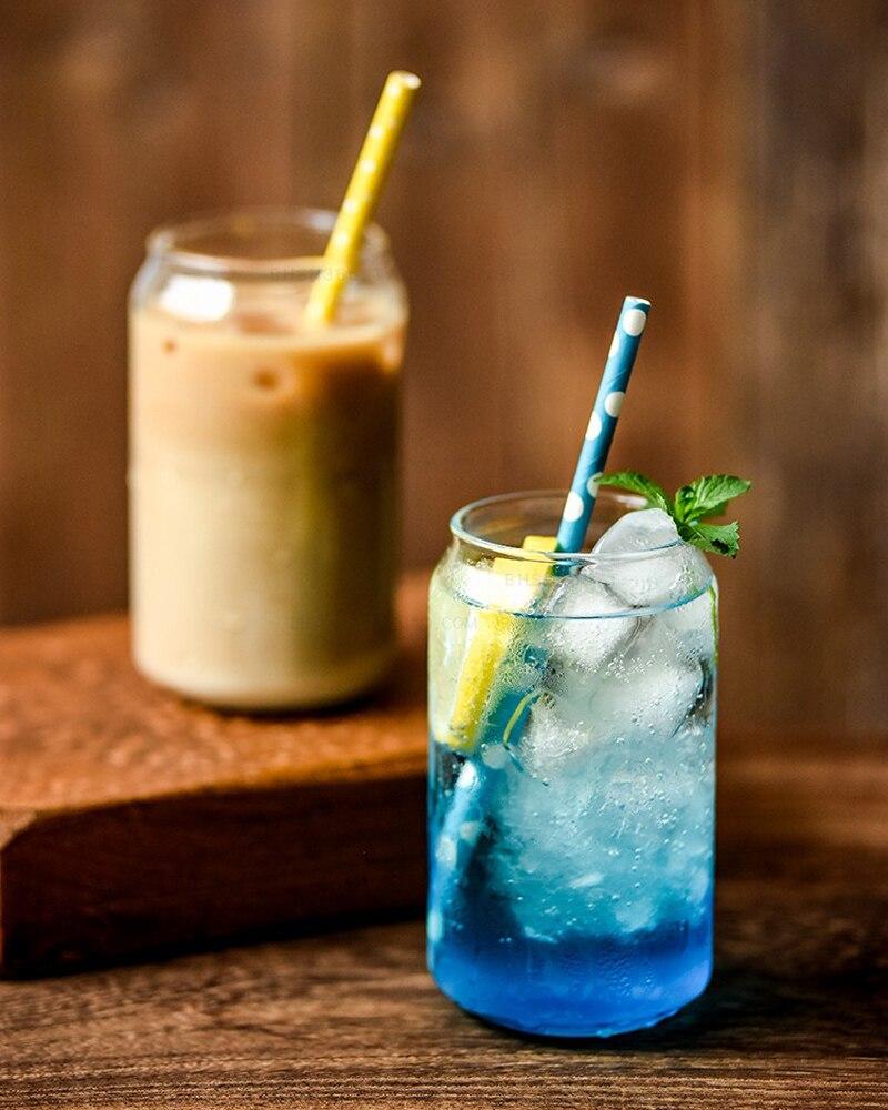 Creative Glass Mug Soda Cola Can Shaped Glass Mug Ice Beer Cup Bar Cafe Beverage Juice Cup Heat Resistant Glasses 400ML550ML (10)