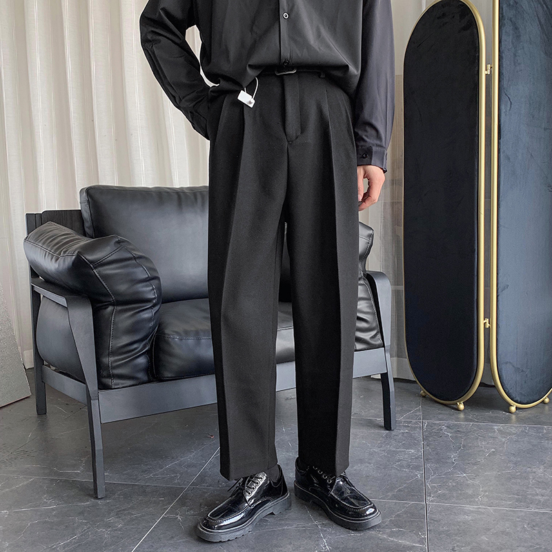 2020 Spring And Autumn New Youth Pop Fall Solid Color Loose Trousers Fashion Casual Straight Pants Black / Gray M-2XL