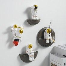 Nordic decoração de parede quadro astronauta resina figura prateleiras parede decorações decorativas para sala estar pendurado prateleira da parede presentes
