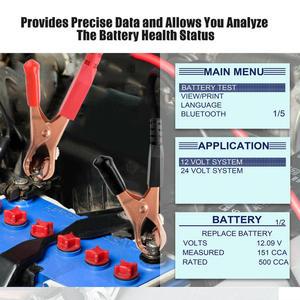Image 2 - FOXWELL BT705 12V 24V Tester baterii analizator dla samochodów ciężarowych 100 2000 Tester obciążenia akumulatora CCA Test rozruchu i instalacja ładująca